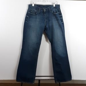 Lucky Brand Dakota Slim Bootleg Denim Jean's Sz 32